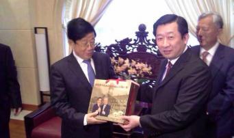 河北省委书记赵克志与台湾梅山董事长合影